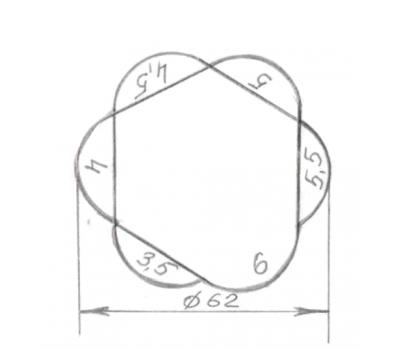 Щуп для измерения зазоров и перепадов 3,5 - 6,0 мм, 6 щупов, пластик.