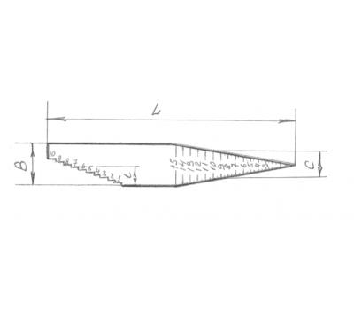 Линейка конусная комбинированная,1-10/15ммх128, пластик.