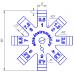 Щуп для измерения зазоров и перепадов 0,5 - 8,0 мм,8 щупов, пластик.