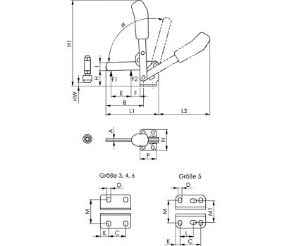Вертикальное зажимное устройство 6804 (90431)