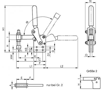Вертикальное зажимное устройство 6812P (91330)
