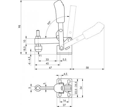 Вертикальное зажимное устройство 6805 (90514)