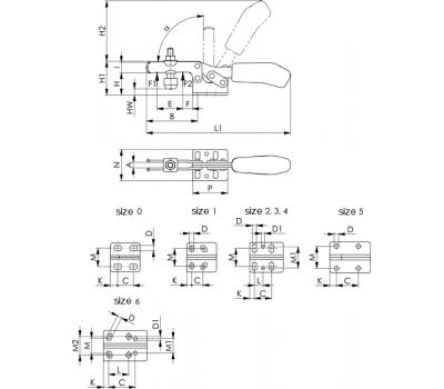 Горизонтальное зажимное устройство 6830 (93005)