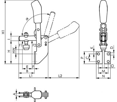 Вертикальное зажимное устройство 6803 (90332)