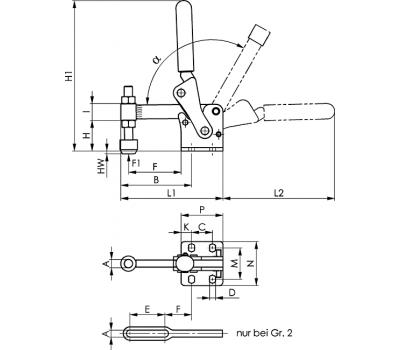 Вертикальное зажимное устройство 6811P (90878)
