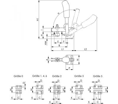 Вертикальное зажимное устройство 6800 (90019)
