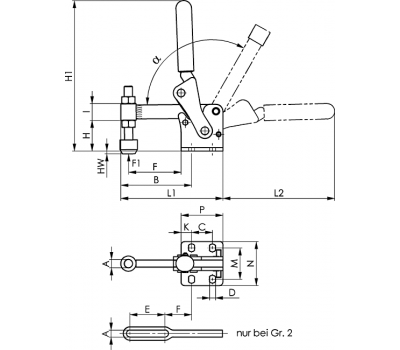 Вертикальное зажимное устройство 6811P (90886)